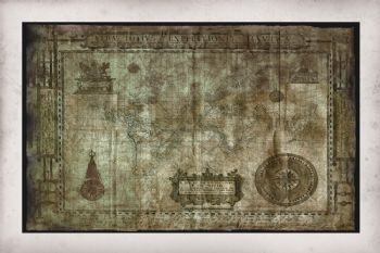 Old World Map Print - Drake's Map